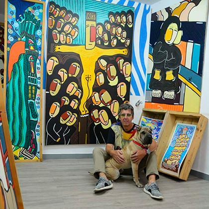 "El pintor cangués Raúl Velloso presenta ""ARCIS MARMORICIS. Origen del color"""