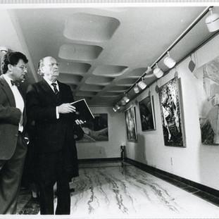 Inauguración de Galería de arte Araguaney, con Gerardo Fernández Albor