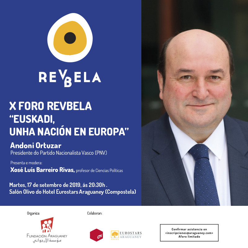 El presidente del PNV, Andoni Ortuzar, hablará sobre el papel de Euskadi en Europa en el décimo Foro