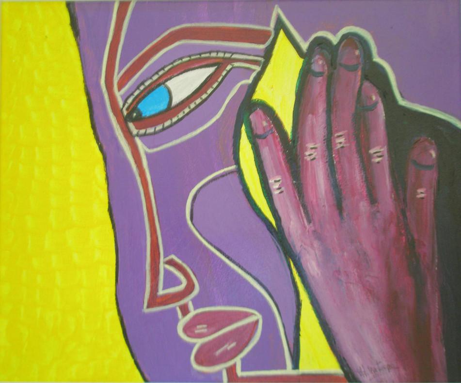 La pintora viguesa Checha Montenegro homenajea a la mujer y sus emociones con una exposición en la F