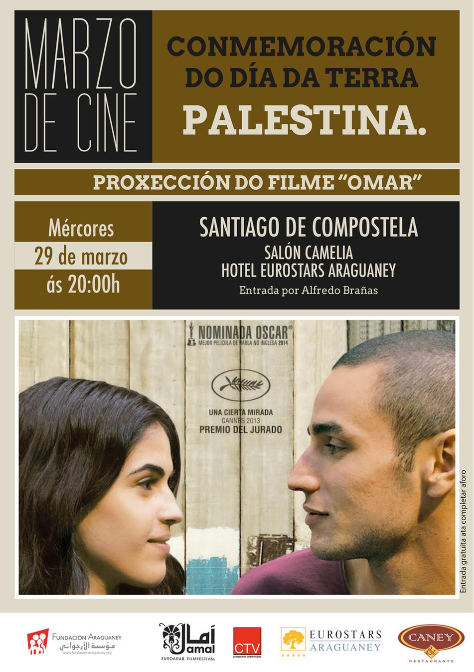 """La Fundación Araguaney-Puente de Culturas proyecta mañana la película """"Omar"""" para conmemorar el Día"""