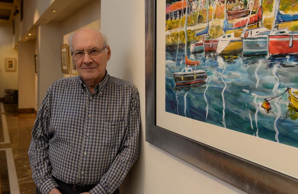 Vázquez Alemán expone su obra en la Galería de Arte del hotel Eurostars Araguaney de Santiago