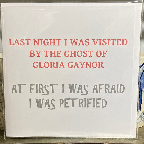 Last night I was visited .... greeting card