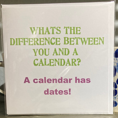 What's the difference between .... greeting card