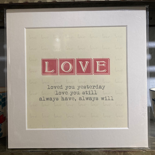 love definition mounted print