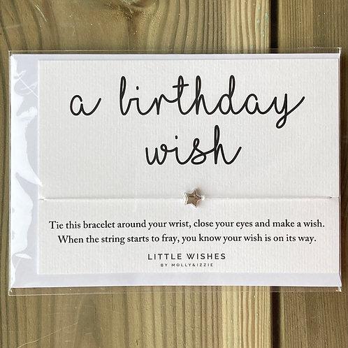 Bracelet a birthday wish