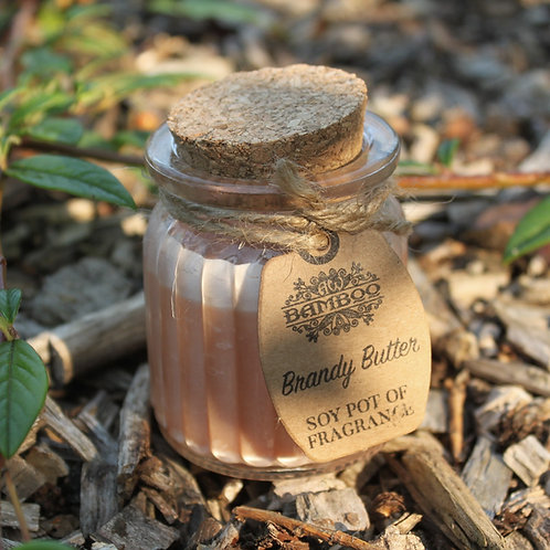 Glass Brandy Butter Soy Pot of Fragrance Candle