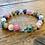 Thumbnail: Unisex Three Gemstone Cross Bracelet (balance*focus*calming)