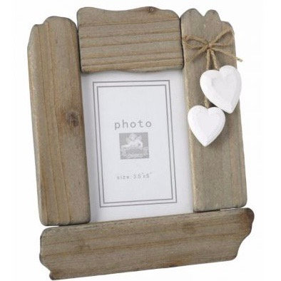 Hanging Hearts Wooden Picture Frame