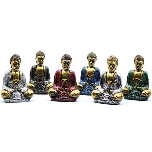 Grey and Gold Mini Buddha