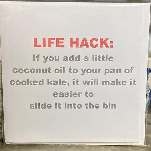 Life hack kale ... greeting card