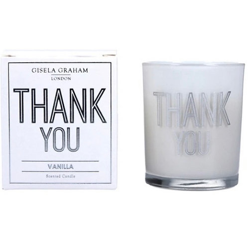 Gisela Graham 8cm Thank You Candle