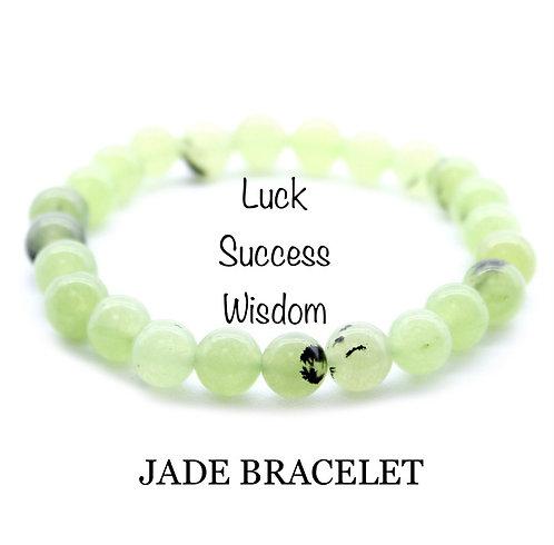 Unisex Jade Gemstone Bracelet (luck*success*wisdom)