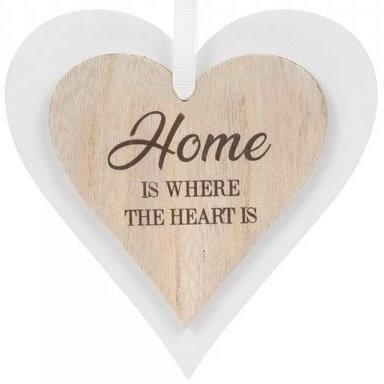 Wooden Heart Home is where ...