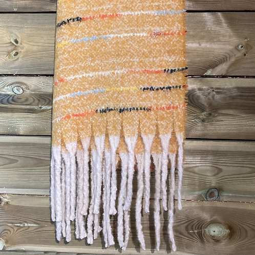 Scarf with Tassels mustard