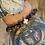 Thumbnail: Unisex Power Friendship Bracelet. Tiger Eye and Black Stone