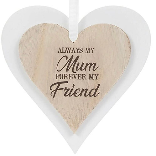 Wooden Heart Always my mom ...