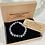 Thumbnail: Unisex Pewter Skull Grey Agate Gemstone Bracelet (stability*wellbeing*endurance)