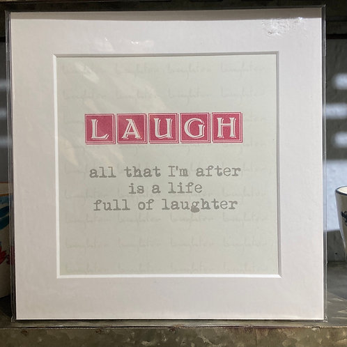 laugh definition mounted print