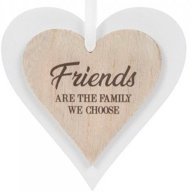 Wooden Heart Friends are the family ...