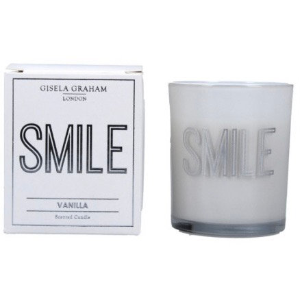 Gisela Graham 8cm Smile Candle