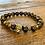 Thumbnail: Unisex Gold Tiger Tiger Eye Gemstone Bracelet