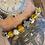 Thumbnail: Unisex Protection Friendship Bracelet. Dalmation Jasper & Yellow Agate