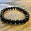 Thumbnail: Unisex Black Agate Gemstone Bracelet (wellbeing*stability*endurance)