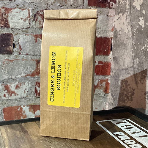 GINGER AND LEMON ROOIBOS HERBAL INFUSION