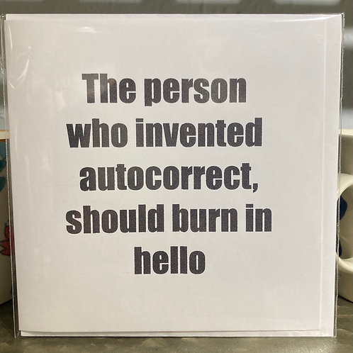 The person who invented ....  greeting card