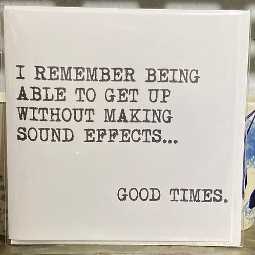 I remember being able to get up .... greeting card