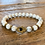 Thumbnail: Unisex Gold Hamsa White Howlite Gemstone Bracelet (calming*relaxing*peace)