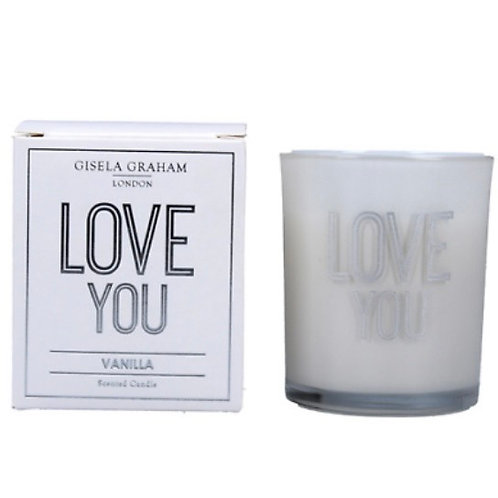Gisela Graham 8cm Love You Candle