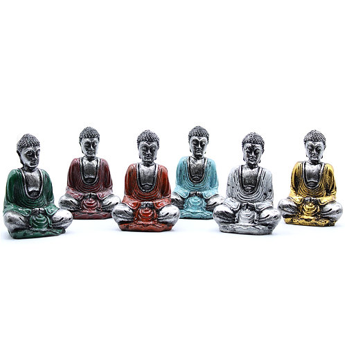 White and Silver Mini Buddha