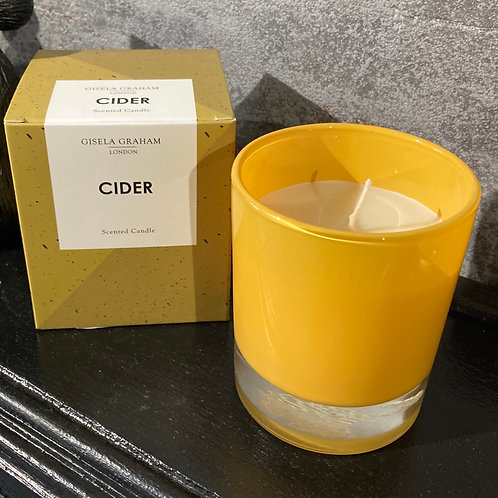 Gisela Graham Cider Scented Candle in Glass