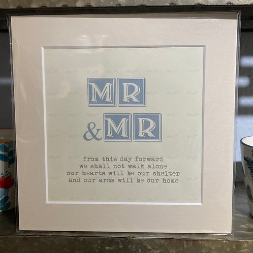 mr & mr definition mounted print