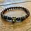 Thumbnail: Unisex Bronze Skull Bloodstone Bracelet (revitalising*energy*wellbeing)