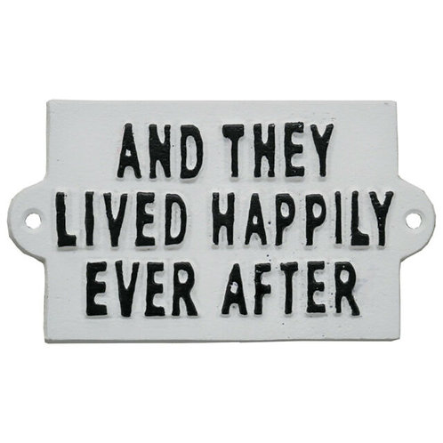 Metal Sign Happily Ever After