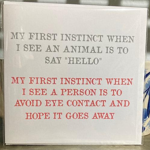 My first instinct ....greeting card