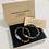 Thumbnail: Two Piece Set Silver Buddha Tiger Eye Gemstone Bracelets