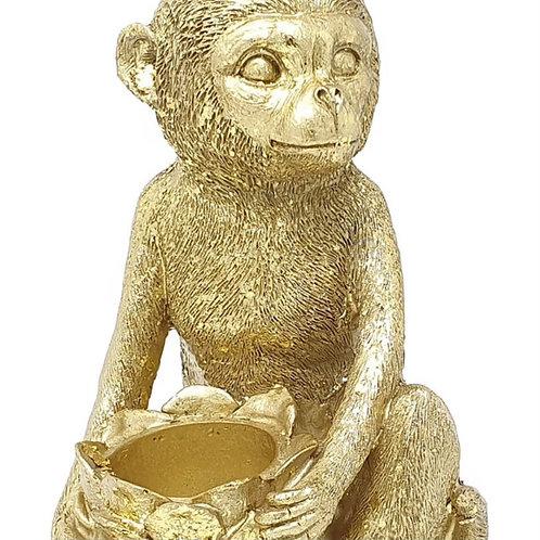 Gisela Graham Gold Monkey Tealight Holder