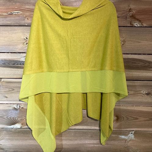 Poncho Lime Green