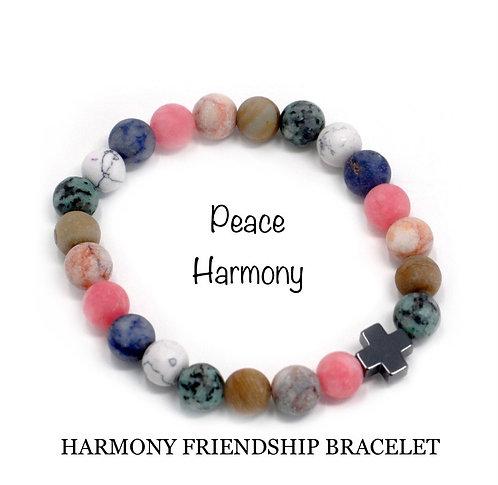 Unisex Harmony Friendship Bracelet. Rainbow Gemstones