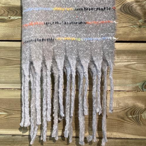 Scarf with Tassels Grey