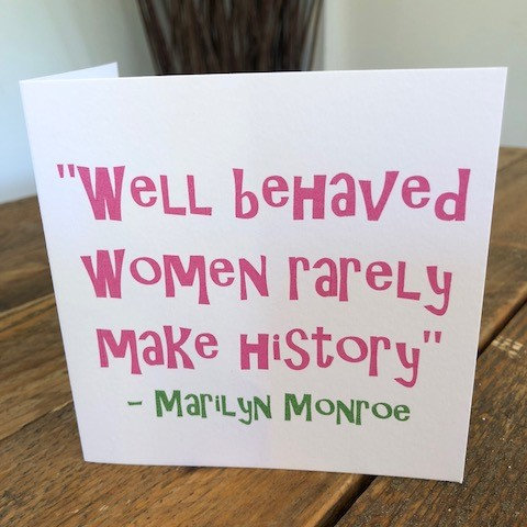 well behaved women rarely greeting card