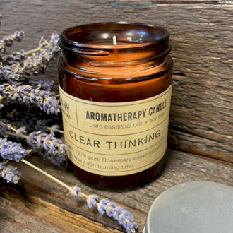 Large Aromatherapy Candle - Clear Thinking