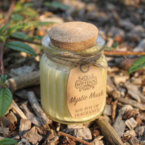 Glass Mystic Musk Soy Pot of Fragrance Candle