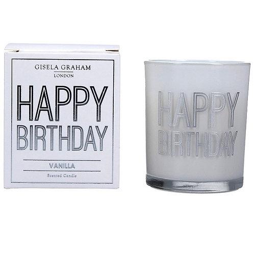 Gisela Graham 8cm Happy Birthday Candle