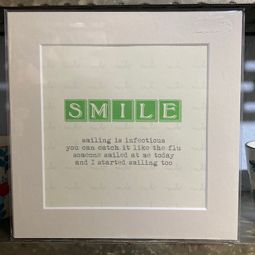 smile definition mounted print