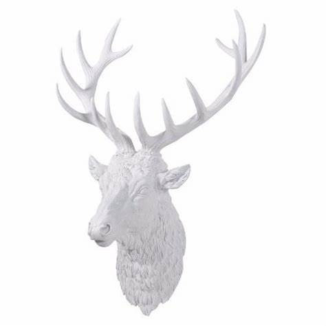Large White Stag's Head